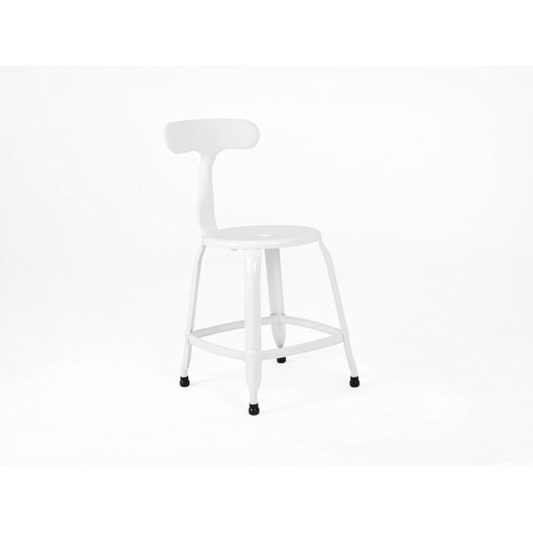 Krzesło Soho metalowe loft biały