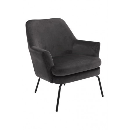 Fotel Chisa Vic tapicerowany dark grey