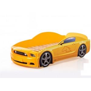 Łóżko dziecięce samochód MG 3D full mustang żółty