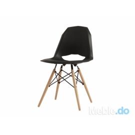 Krzesło Match Wood, czarny